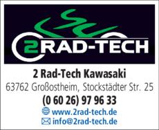 Anzeige 2 RAD-TECH KAWASAKI Großostheim