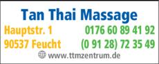 Anzeige Massage - Tan Thai Massage
