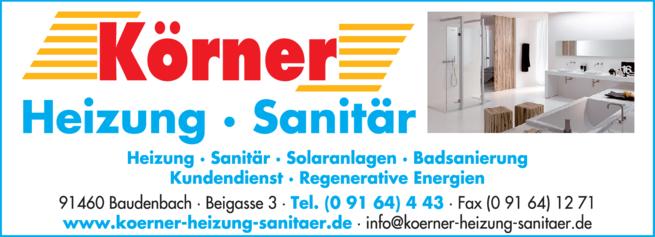 Anzeige Spenglerei Körner Gerhard