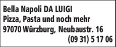 Anzeige Bella Napoli Da Luigi Pizza