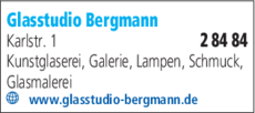 Anzeige Glasstudio Bergmann