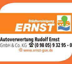 Anzeige Autoverwertung Ernst Rudolf GmbH & Co. KG