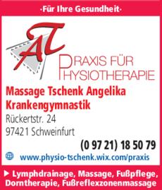 Anzeige Massage Tschenk Angelika