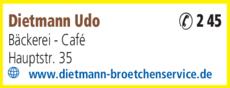 Anzeige Dietmann Udo