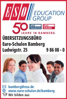 Anzeige ÜBERSETZUNGSBÜRO Euro-Schulen-Bamberg