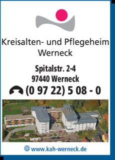 Anzeige Kreisalten- und Pflegeheim Werneck