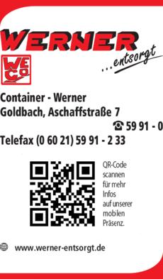 Anzeige Container - Werner