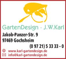 Anzeige GartenDesign J.W. Karl
