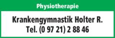 Anzeige Krankengymnastik Holter R.