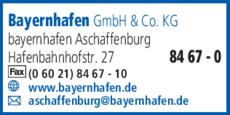 Anzeige Bayernhafen GmbH&Co.KG, bayernhafen Aschaffenburg