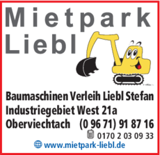 Anzeige Baumaschinenverleih Liebl