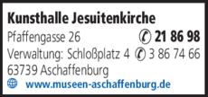 Anzeige Kunsthalle Jesuitenkirche