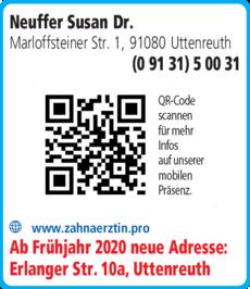 Anzeige Neuffer Susan Dr.