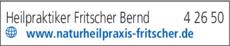 Anzeige Heilpraktiker Fritscher Bernd