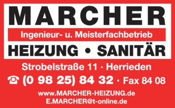 Anzeige Marcher Heizung