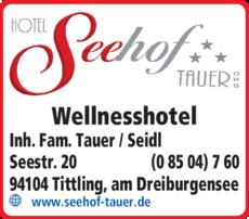 Anzeige Seehof Tauer