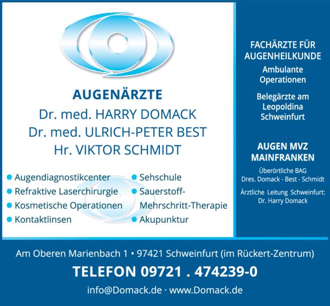 Anzeige Augenklinik Mainfranken