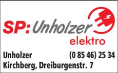 Anzeige Unholzer GmbH, Elektro
