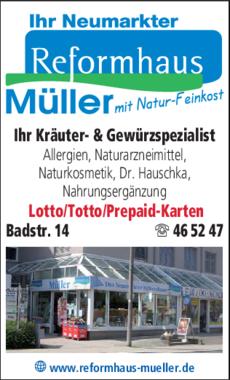 Anzeige Reformhaus Müller