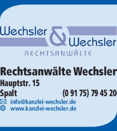 Anzeige Rechtsanwälte Wechsler & Wechsler