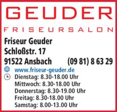 Anzeige Friseur Geuder
