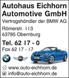 Anzeige Autohaus Eichhorn Automotive GmbH BMW