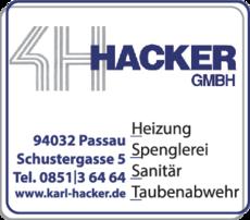 Anzeige Hacker Karl GmbH