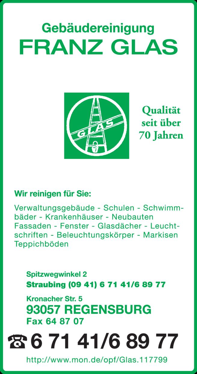 Anzeige Gebäudereinigung Glas Franz