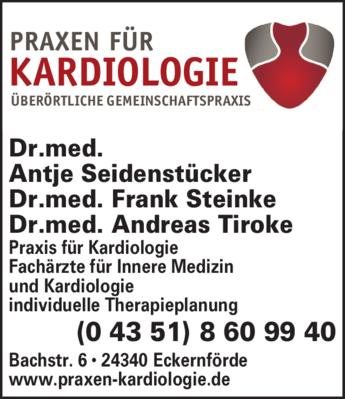 Anzeige Seidenstücker Antje Dr.med. Innere Medizin u. Kardiologie