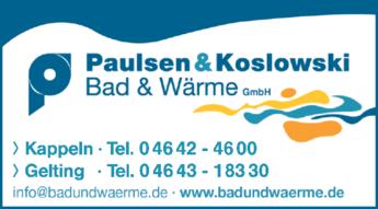 Anzeige Paulsen & Koslowski Bad & Wärme GmbH