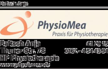 Anzeige Baltsch Anja Praxis für Physiotherapie