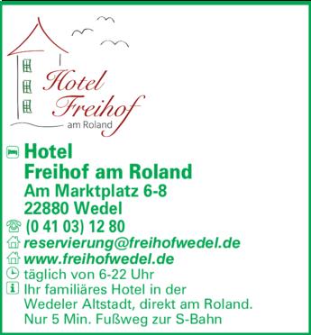 Anzeige Hotel Freihof am Roland