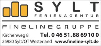Anzeige Fineline Sylt Ferienagentur GmbH