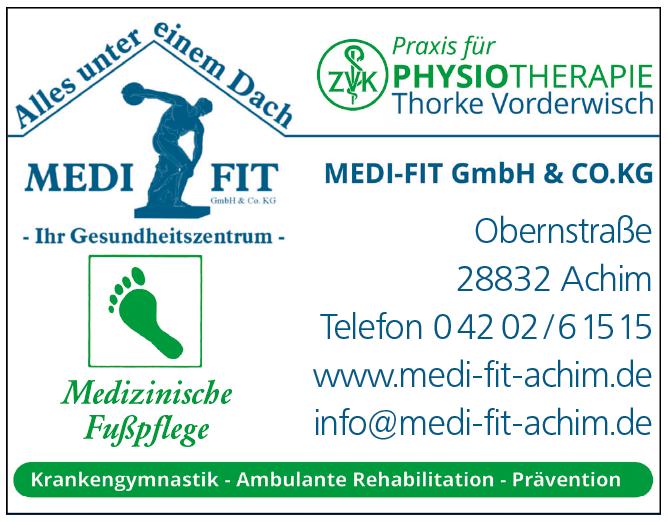 Anzeige Physiotherapie MEDI-FIT Thorke Vorderwisch