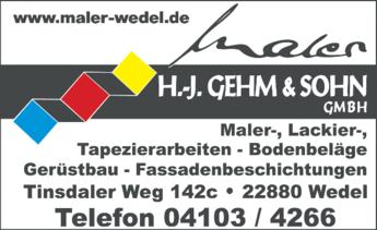 Anzeige Gehm H.-J. & Sohn GmbH Malerarbeiten