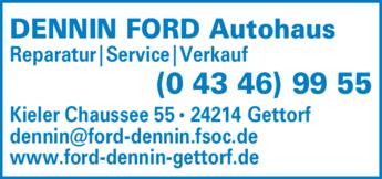 Anzeige DENNIN FORD Autohaus