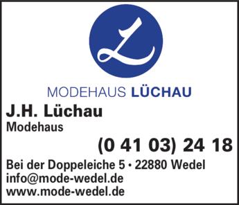Anzeige Lüchau J. H. Modehaus