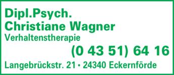 Anzeige Wagner Christiane Dipl.Psych. Psychotherapie