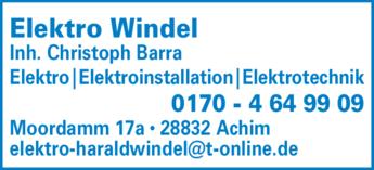 Anzeige Elektro Windel Harald