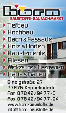 Anzeige Horn Baustoffe GmbH