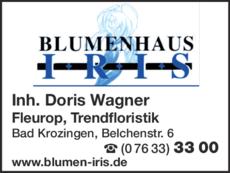 Anzeige Iris Blumenhaus