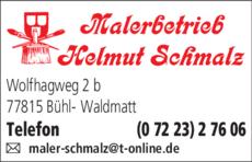 Anzeige Schmalz Helmut