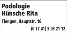 Anzeige Hünsche Rita