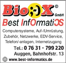 Anzeige Computer Bio-X GmbH