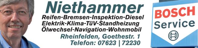 Anzeige Niethammer GmbH Bosch Service