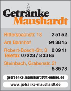 Anzeige Maushardt Getränke