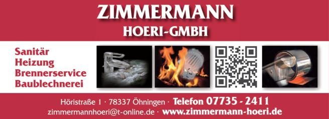 Anzeige Zimmermann Andreas