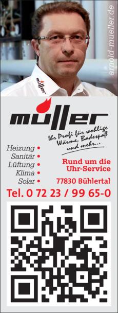 Anzeige Müller Arnold