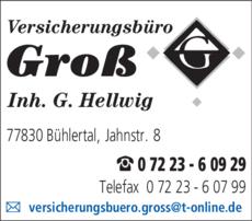 Anzeige Groß Versicherungsbüro
