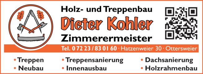 Anzeige Kohler Dieter
